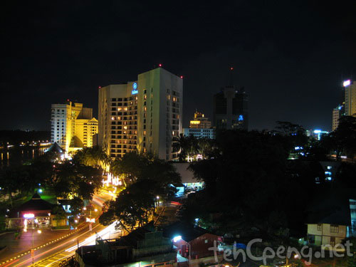 Kuching Skyline at Night