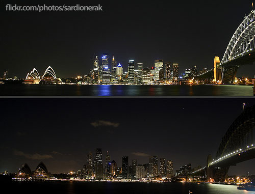 Earth Hour 07 Sydney by Sardionerak