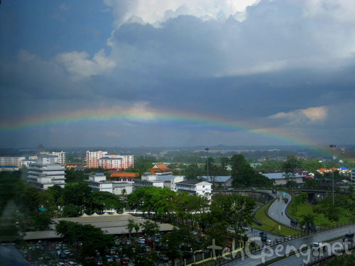 Rainbow over Simpang Tiga