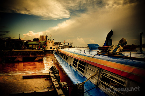 The famous Sibu Express Boat Wharf - 3 exposure HDR