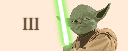 Vectorised Master Yoda is Wallpaper preview
